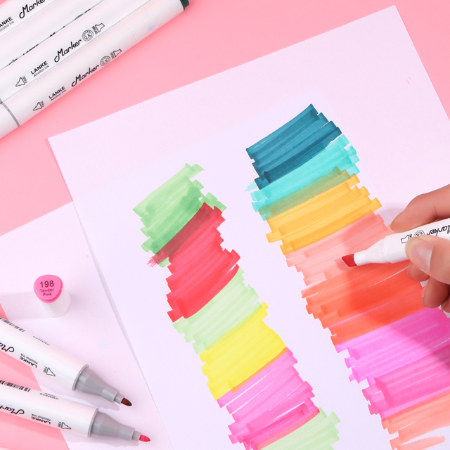 CHENYU 30/40/60/80Pcs Color Markers Manga Drawing Markers Pen Alcohol Based Non Toxic Sketch Oily Twin Brush Pen Art Supplies 4