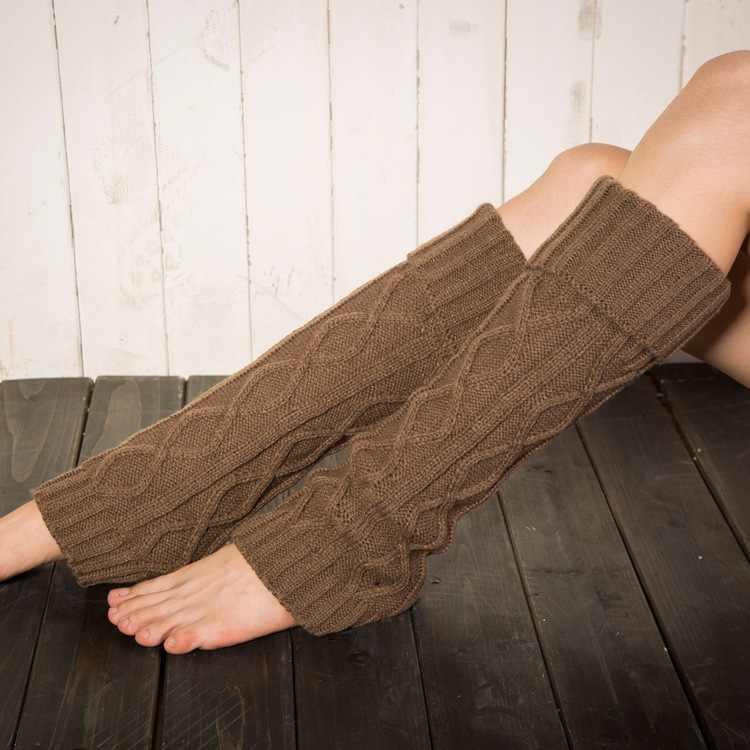 Mùa Đông Bé Gái Bao Tay Chân Dệt Kim Trẻ Em Khởi Động Vớ Nữ Chiều Dài Giày Bao Thu Chân Bao Trẻ Em Thảm Lót Đầu Gối