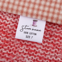 Care-Labels Logo Custom-Tags Personalized Garment Seam-Fabric Sewing-Size Or