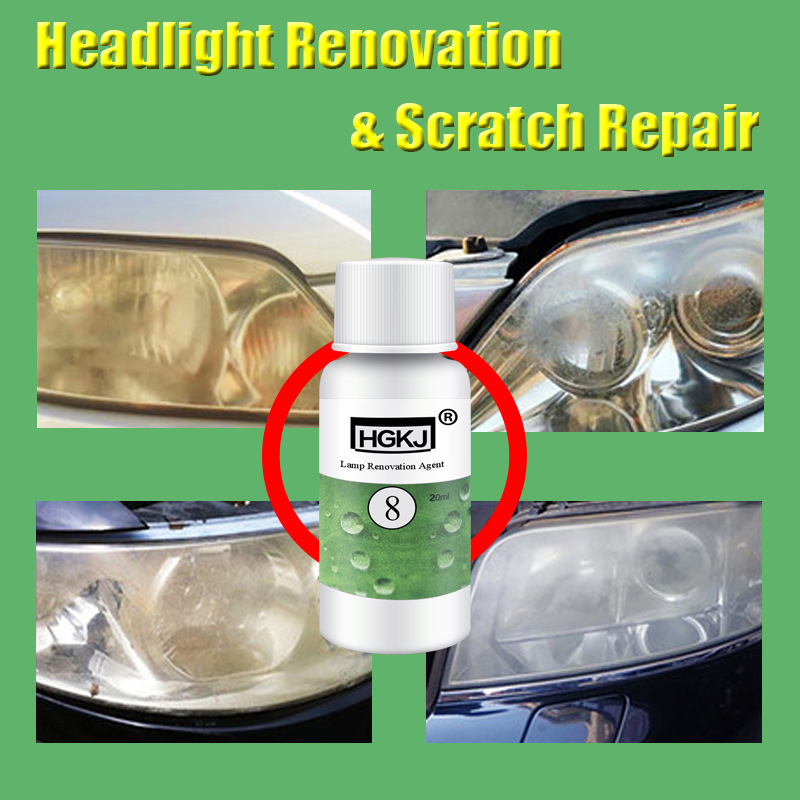 HGKJ-8 20ML Auto Lamp Repair Liquid Car Headlight Renovation Agent Lamp Clean Tool Repairing Polishing Car Accessories