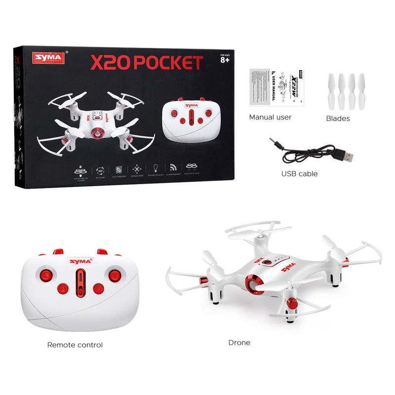 Pocket Drone 2.4G Mini RC Quadcopter Headless Mode Altitude Hold X20 Dron Kids boys man gifts