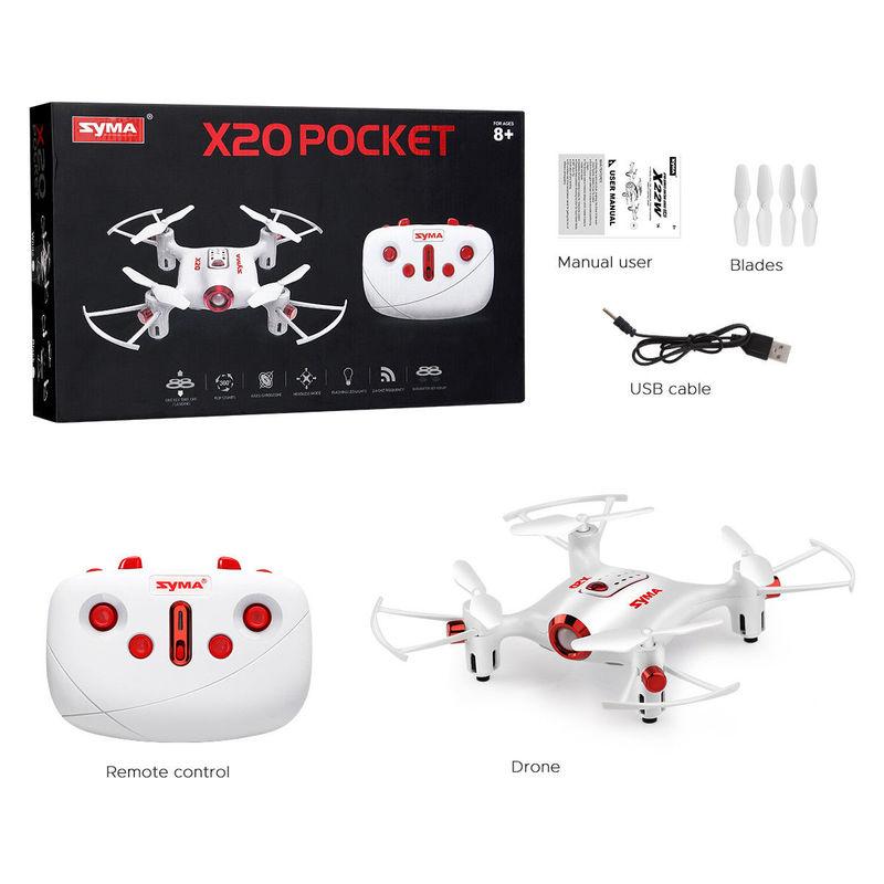 Pocket Drone 2.4G Mini RC Quadcopter Headless Mode Altitude Hold X20 Dron Kids boys man gifts