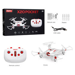 Pocket Drone 2.4G Mini RC Quadcopter Headless Mode Altitude Hold Quadcopter X20 Mini Dron Kids boys man gifts