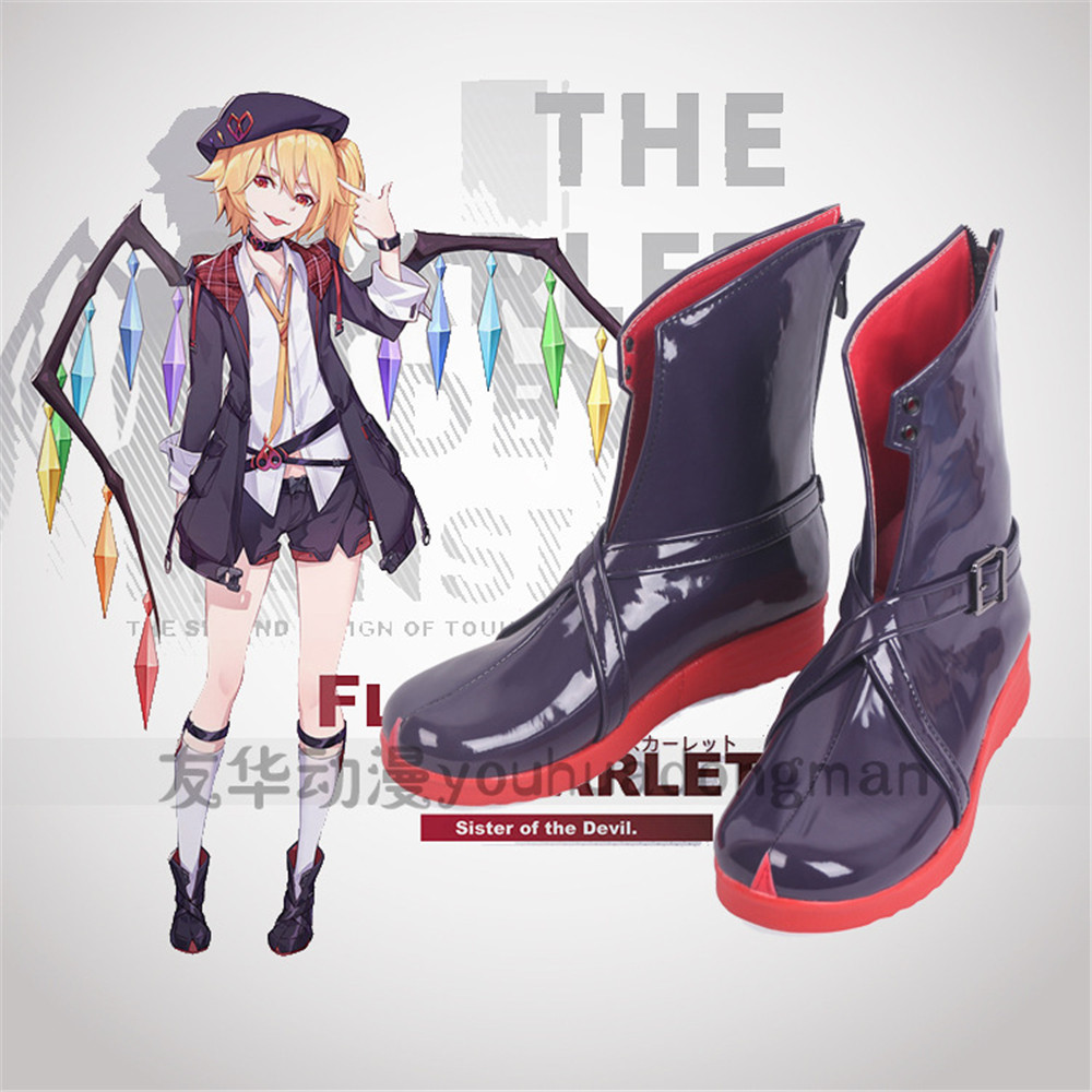 Free Shipping Cosplay Shoes Toho Project TouHou Project Flandre Scarlet Boots Halloween Christmas New in Stcok Anime Game image