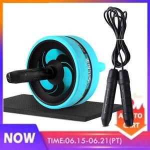 Roller & Springtouw Geen Lawaai Abdominale Wiel Ab Roller Met Mat Voor Oefening Fitness Apparatuur Accessoires Body Building(China)