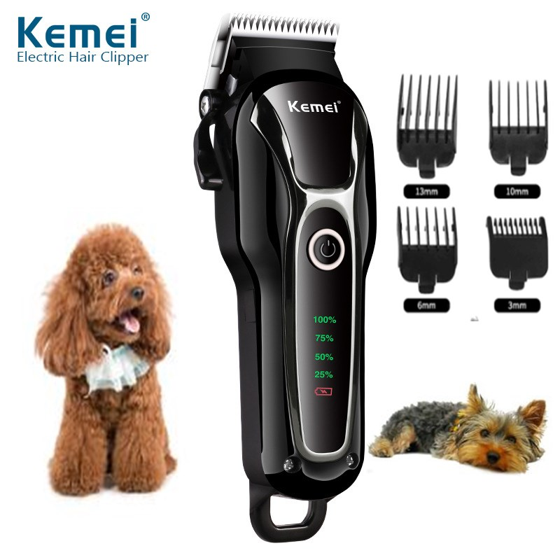 Professional Dog Hair Trimer Rechargeable Cutting Machine LED Display Pet Hair Shaver Cordless Electric Hair Clipper For Pet 45D