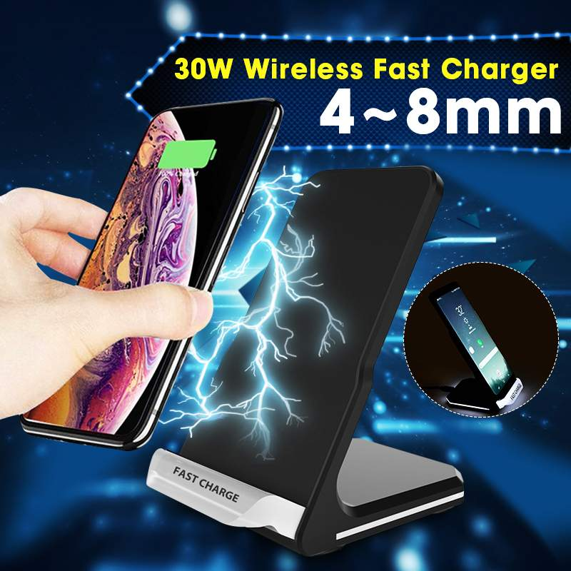 30W QI Fast Charge Wireless Charger For Iphone 11 Pro Charger Dock For Phone iPhone/Samsung/Huawei/Huawei Wireless Charge Stand