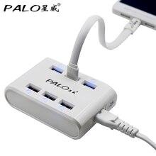 PALO ue usa AU UK wysoka prędkość 6 Port uniwersalny Micro USB ładowarka USB adapter ścienny dla iPhone 6 6s iPad Samsung xiaomi LG ładowania