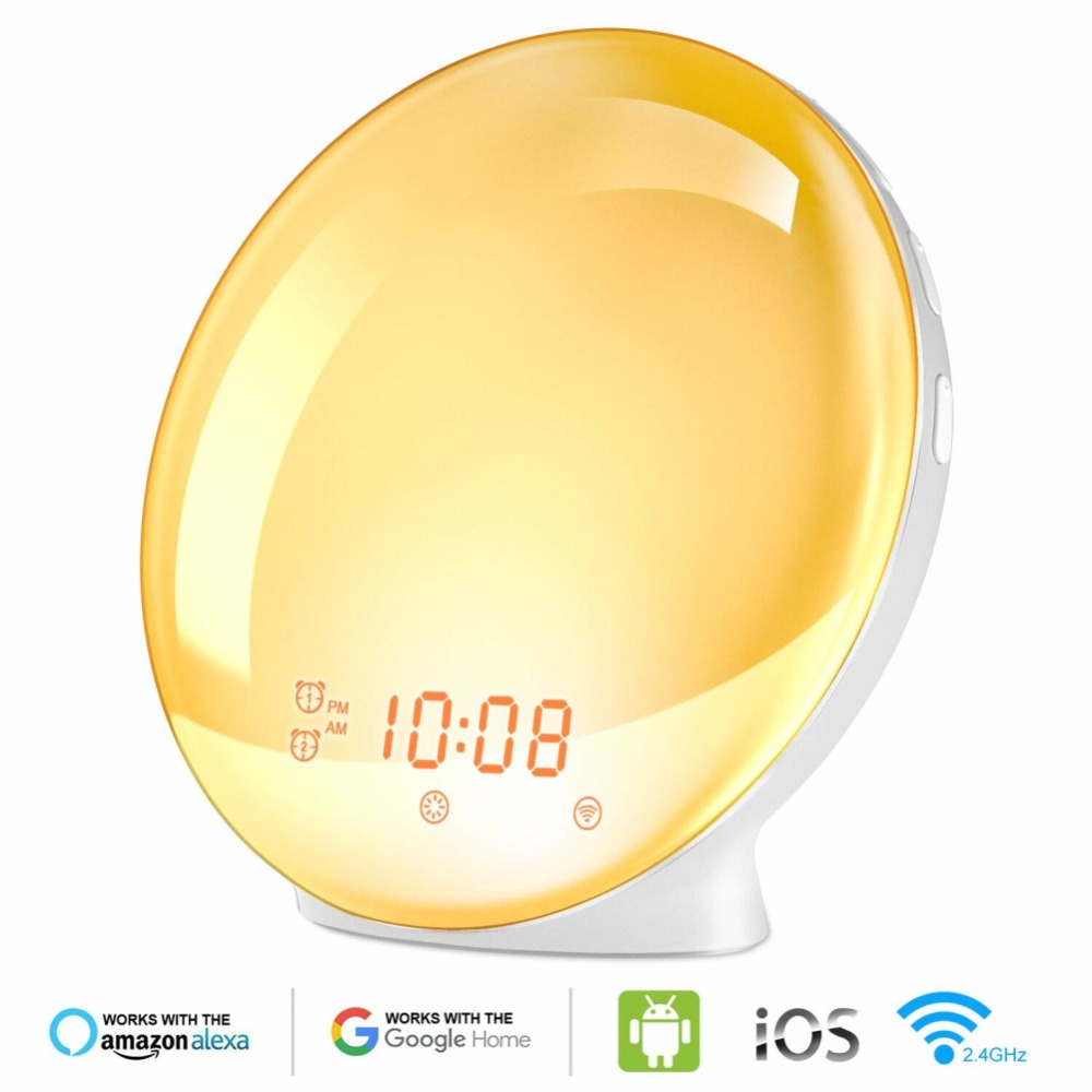 WIFI-smart-voice-control-alarm-clock-wake-digital-snooze-nature-night-light-clock-work-with-Alexa (6)