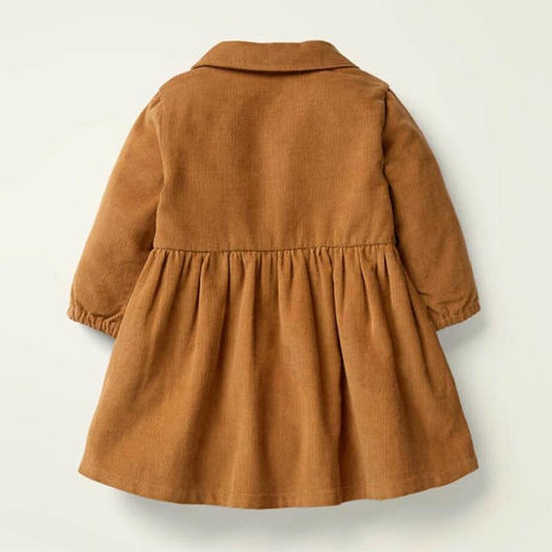 Little Maven Brand Autumn Baby Girls Clothes Cotton Hedgehog Applique Shirtdress Toddler Christmas Dresses for Kids 2-7 Years 2