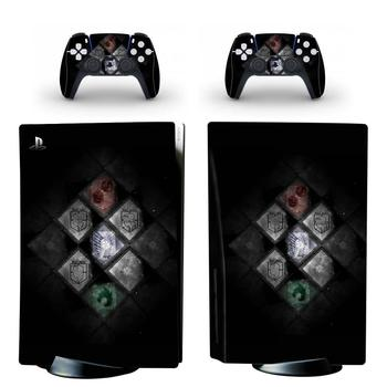 Attack On Titan PS5 Standard Disc Edition Skin Sticker Decal Cover for PlayStation 5 Console & Controller PS5 Skin Sticker Vinyl 2