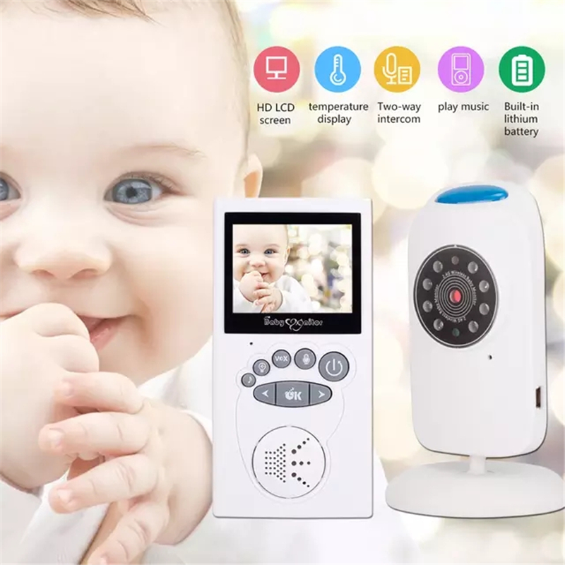 Wireless Baby Monitor 2.40 Inch 2 Way Talk Night Vision LED Video Baby Security Temperature Baby Care LCD Screen Camera