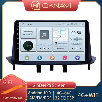OKNAVI 9'' Android 9.0 Car Multimedia Player For Renault Megane 3 2008 2009 2010 2011 2012 -2014 GPS Navigation Radio No DVD image