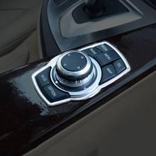 Couverture de boutons multimédia de rénovation intérieure en acier inoxydable, nouveaux accessoires de voiture pour bmw X1 X3 X5 X6 F20 F01 F30 F15 F34 F31, 2021