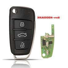 Jingyuqin Xhorse Universal XKA600EN Wire Remote Key 3B per Audi A6L Q7 tipo Chip Shell chiave remota per VVDI2 per VVDI Key Tool