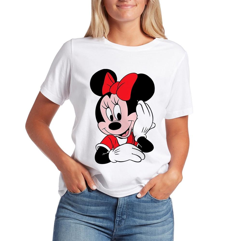 Mickey Ear Shirt Cute Tee Hipster Harajuku T-shirt Minnie Graphic Print T Shirts Vogue Tshirt Pretty Fashion Vestidos