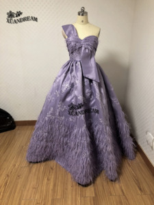Image 3 - XUANDREAM foto Real bestidos de gala vestido debutante corto vestido de bola plumas vestidos de graduación para ocasión especial vestidos XD157