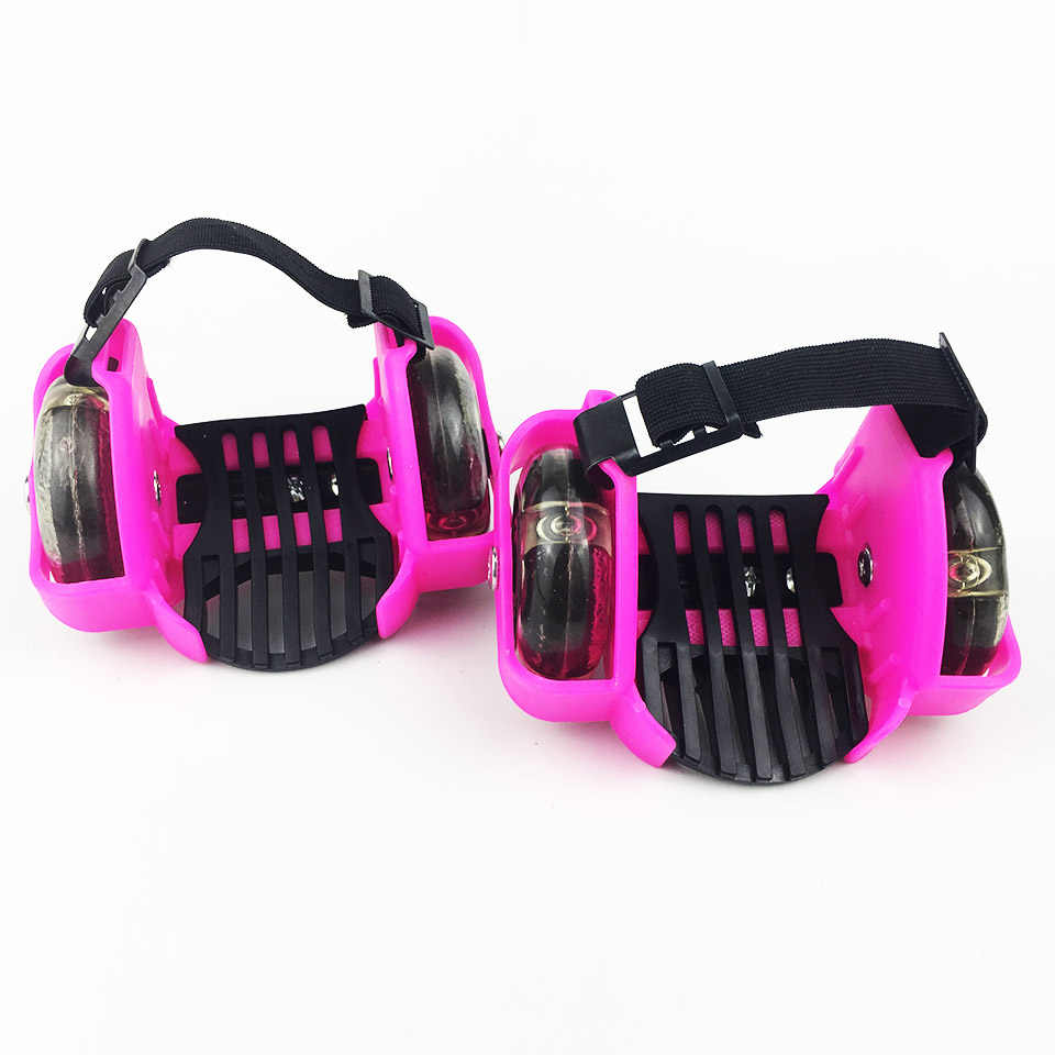 Детская обувь для катания на роликовых коньках с каблуками и колесами, 4 светодиодный светильник, спортивный яркий светодиодный, мигающий маленький вихревой шкив для детей, IA8501