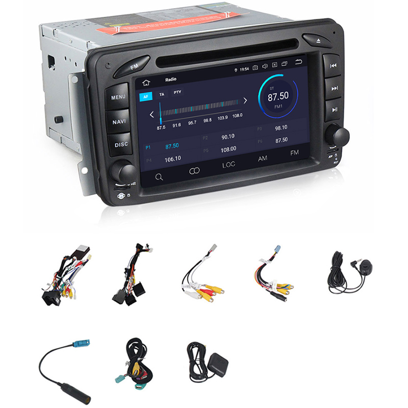 7 inch Android 9.0 Car DVD Player for Mercedes Benz <font><b>CLK</b></font> <font><b>W209</b></font> W203 W463 W208 Wifi 3G GPS Bluetooth <font><b>Radio</b></font> Stereo Audio Media image