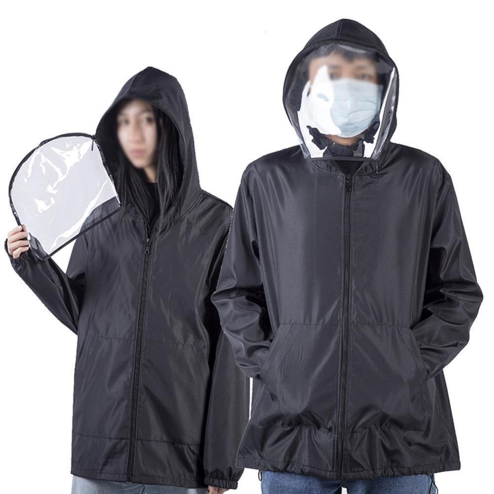 Anti-fog Hat Hooded Top Protective Clothing Isolation Clothing Face Mask Light Dust-proof Anti-fog Removable Women Clothes