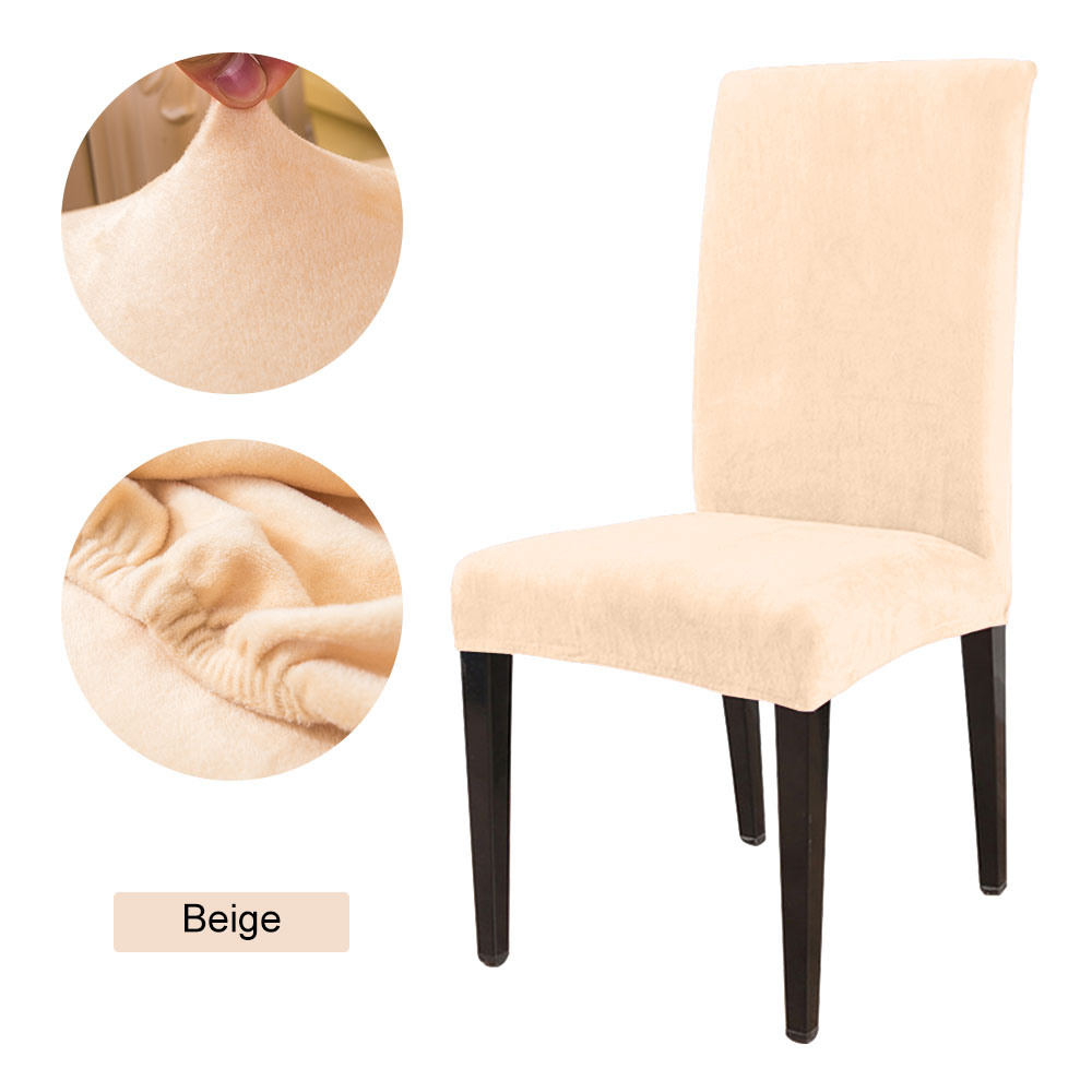 1 to 6 Pcs Removable Chair Cover Made with Stretchable Thick Plush Material for Banquet Chair 23