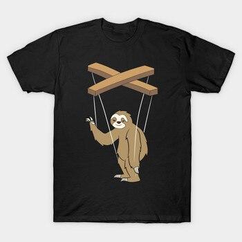 男性 tシャツ腹話術シャツナマケモノ人形ギフトの tシャツ女性の tシャツ