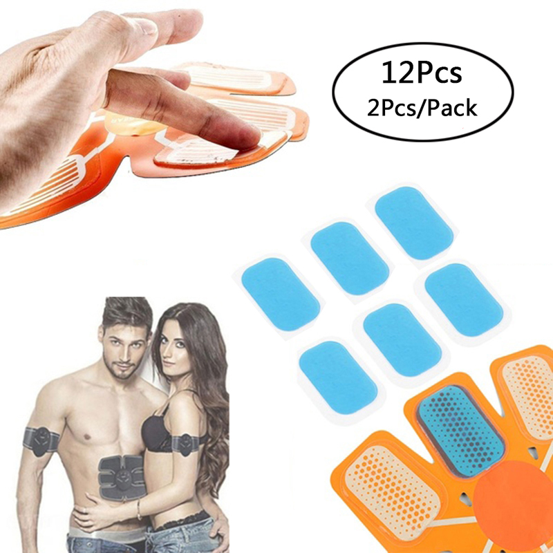 12Pcs EMS Hydrogel Sticker Patch ABS Abdominal Stimulator Replacement Pads Fitness Massager Slimming Belt Fitness Accessories