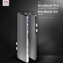Snowkids Type-C Hub To HDMI Adapter 4K Thunderbolt 3 USB C Hub USB 3.0 TF SD Reader Slot PD for MacBook Pro 2019 Hub MacBook Air стоимость