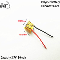 3.7V,30mAH,400909 Polymer lithium ion / Li-ion battery for TOY,POWER BANK,GPS,mp3,mp4,cell phone,speaker