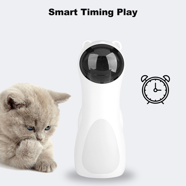 Cat Interactive Toy Automatic Cat Laser Pointer for Cats LED Laser Funny Toy USB/Battery Charging Pet Training Exercise Chaser 6