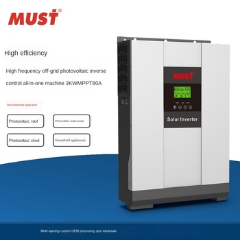 цена на Factory Direct 3kW High-Frequency off-Grid Inverse Control All-in-One Inverter Internal 80A MPPT Solar Controller