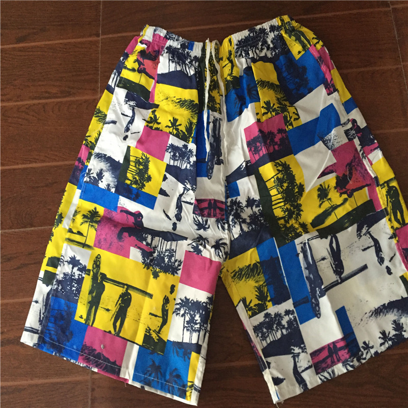 MEN'S Beach Pants Short Casual Sports Printed Loose-Fit Quick-Dry Beach Booth Goods Surfing Drifting