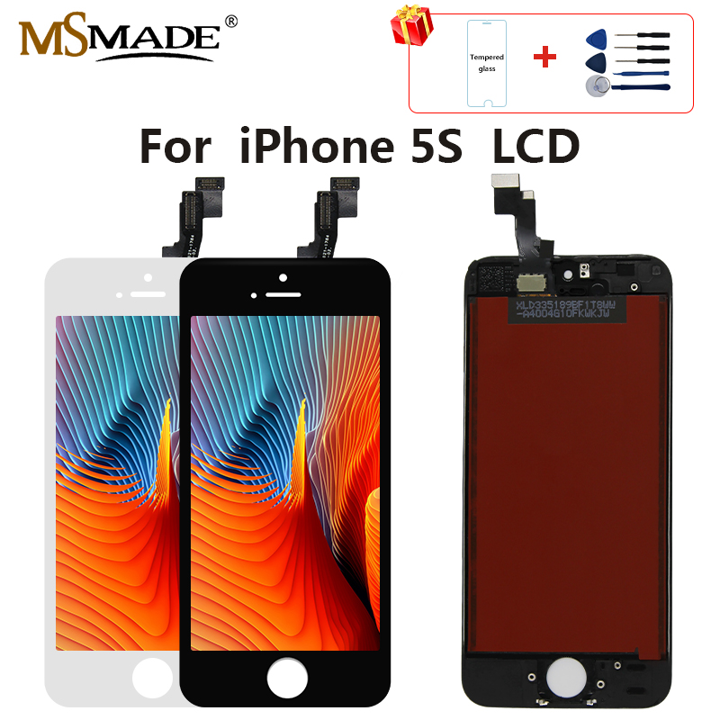 <font><b>Original</b></font> <font><b>5S</b></font> <font><b>LCD</b></font> For <font><b>iPhone</b></font> <font><b>5S</b></font> <font><b>LCD</b></font> Screen Display Touch Digitizer Assembly Replacement Parts Tianma No Dead Pixel High Quality image