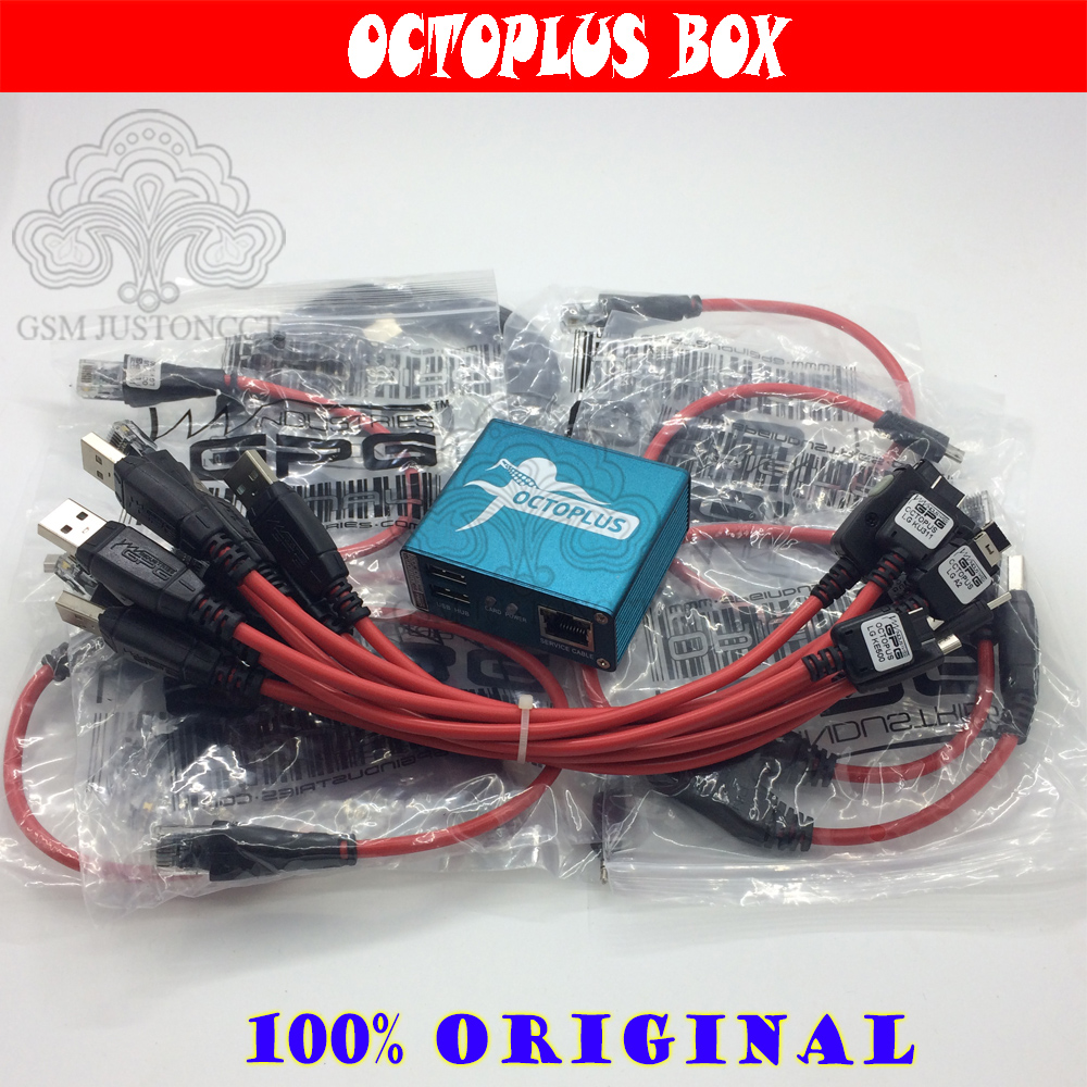 Gsmjustoncct 100% Original Octoplus Box / Octoplus Pro Box For LG Unlock &Repair Flash Tool Mobile Phone(package With 18 Cables)