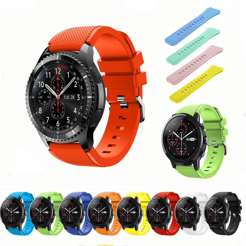Silicone Pulseira For Samsung Galaxy Watch 46mm Gear S3 Frontier Band 22mm Watch Band Correa Bracelet S3 Classic Amazfit Belt