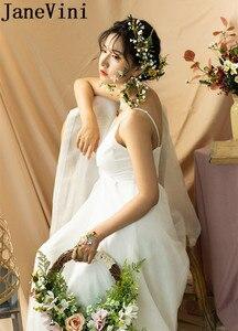 Image 5 - JaneVini ラウンドウェディング花輪ブライダルブーケピンク造花バスケット花嫁のブーケ花嫁介添シルクフラワーブーケノッカー