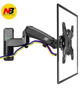 """Image 2 - NB F450 air press molla A Gas a doppio braccio 40 50 """"8 16 kg full motion parete di Monitor staffa LCD tv AL PLASMA montare lcd di sostegno del supporto"""