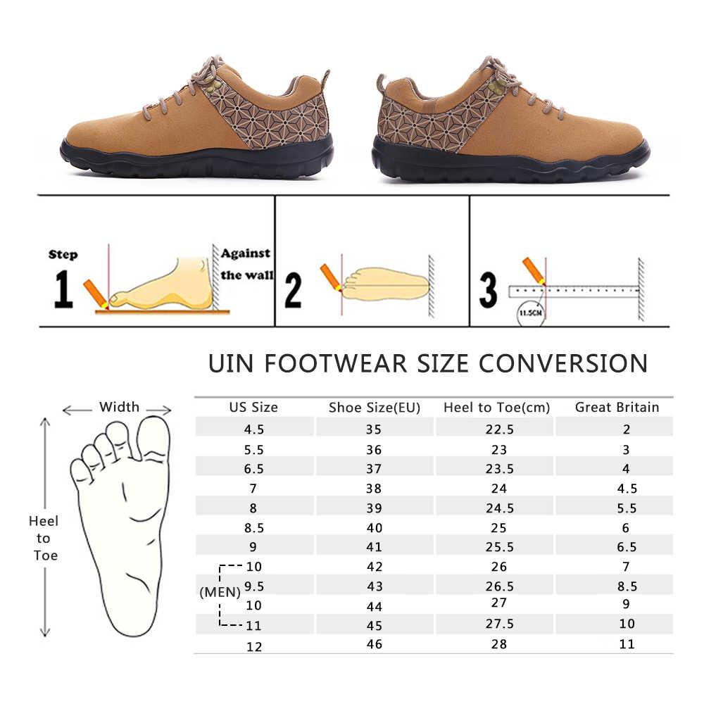 UIN Quebec serisi sonbahar/kış ayakkabı kadınlar/erkekler mikrofiber süet ayakkabı geniş ayak açık rahat daireler ayakkabı hafif