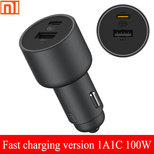 Image 5 - Xiaomi car charger fast charging version 1A1C 100W USB C 100W MAX fast charging/USB A, USB C dual port output