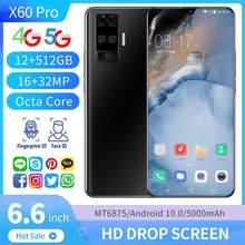 12 Гб + 512 Гб 5000 мАч Android 10,0 5G LTE сотовый мобильный телефон 6,6