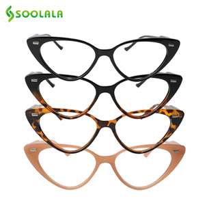 Image 2 - SOOLALA Cat Eye Reading Glasses Women Lesebrille Presbyopic Reading Glasses For Sight 1.0 1.25 1.5 1.75 to 4.0 Glasses Diopter