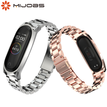 Mi Band 4 Strap for Xiaomi Mi Band 4 Bracelet Magnetic Metal Strap for Mi Band 3 Smart Wristbands Screwless Stainless Steel mijobs mi band 2 strap metal bracelet screwless stainless steel bracelet wristbands replace accessories for xiaomi mi band 2