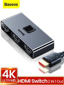 Baseus Splitter-4k Tv-Box Out-Converter Hdmi-Switch Bi-Direction 2-Ports 1x2/2x1-Adapter