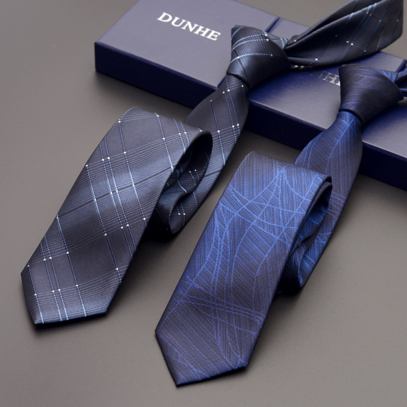 High Quality 2019 New Silk Wedding Ties For Men Tie Slim 6cm Necktie Designers Brand Black Gray Sliver Neck Tie With Gift Box