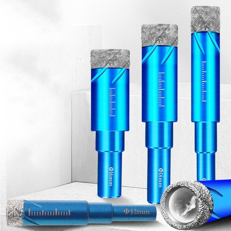 Roda de diamante, 1 peça, 6 8, 10, 12, 14 e 16mm, durável, furadeira com número seco, para perfuração de vidro, mármo