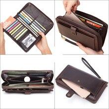 Banlosen Men Cowhide Clutch Wallets FD01