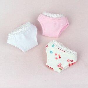 Белые трусики для куклы Барби, шарнирная кукла Blythe 1/6, милая розовая одежда Барби, трусы, аксессуары, детское нижнее белье, подарок для девочк...