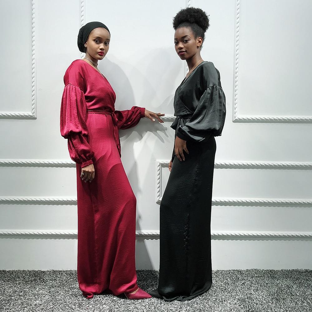 Plain Abaya Kaftan Dubai Hijab Muslim Dress Turkish Saudi Arabia African Dresses For Women Caftan Islamic Clothing Qatar Turkey