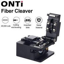 Cuchillo de corte de Cable de fusión óptica ONTi, FTTH, herramientas de fibra óptica de Metal de modo único, cortador de cuchilla de alta precisión