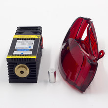 40W Laser Module PWM TTL 12V 450nm Wavelength Fast Engraving Speed for Stainless Steel Wood Cutting Infrared Positioning Laser